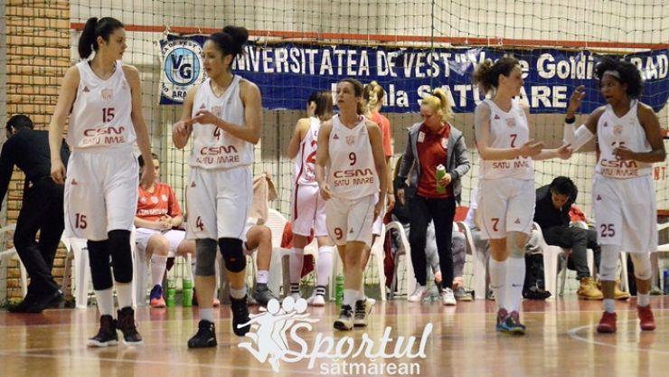 Baschet | CSM Satu Mare joacă pentru calificarea în semifinalele LNBF
