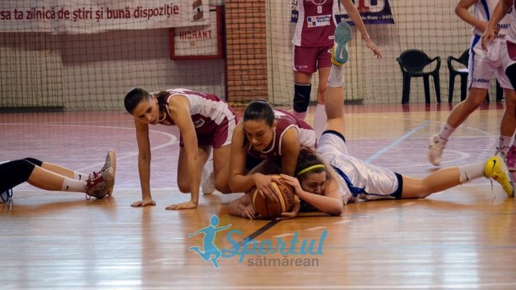Baschet. Înfrângeri pe linie în sezonul regulat pentru baschetbalistele de la CSM Satu Mare