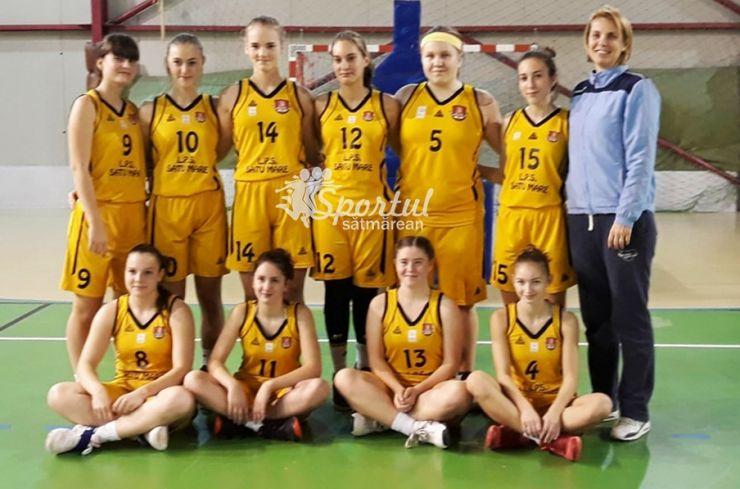 Baschet U16 | Victorii pe linie pentru fetele de la LPS CSS Satu Mare, la al doilea turneu al Campionatului Național
