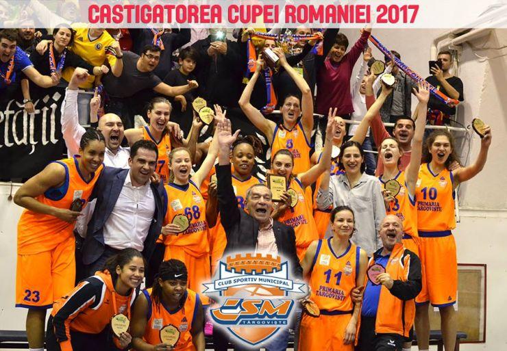 Baschet   CSM Târgoviște a câștigat Cupa României, după o finală dramatică