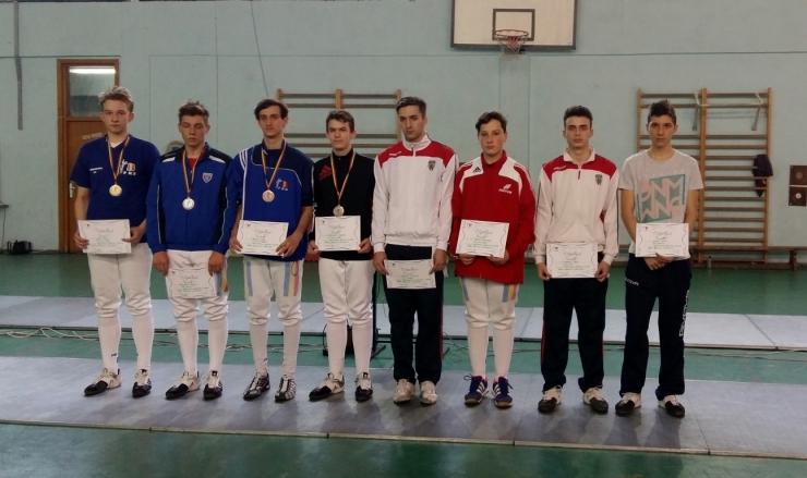 Spadă. Marton Szep (CS Satu Mare) a câștigat medalia de aur la Campionatul Național