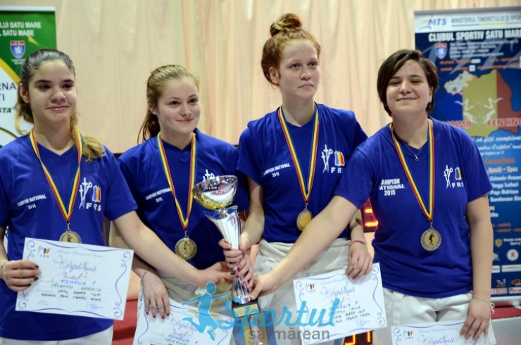 Floretă: România 1 a câștigat ediția a VII-a a Cupei Satu Mare la floretă pentru cadeți, în proba feminină pe echipe