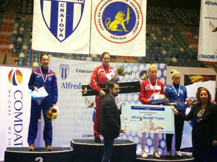 """Spadă   Sătmăreanca Amalia Tătăran (CS Dinamo) a câștigat ediția a șasea a Trofeului """"Alfredo Bachelli"""""""