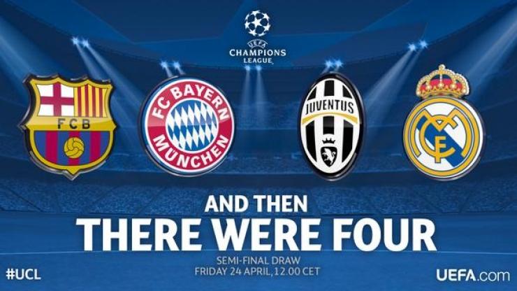 Liga Campionilor   Bayern, Barcelona, Real şi Juventus
