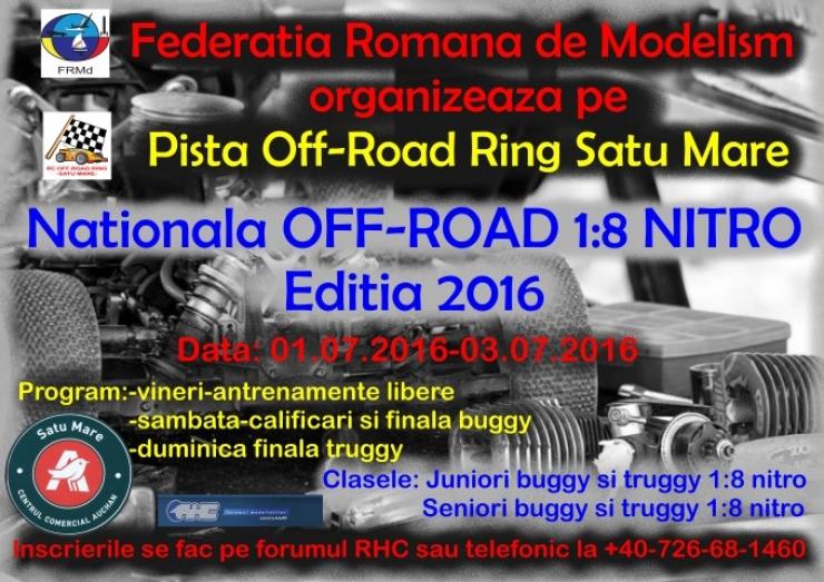 În acest weekend, Satu Mare va fi gazda Campionatului Naţional OFF - ROAD 1:8 NITRO
