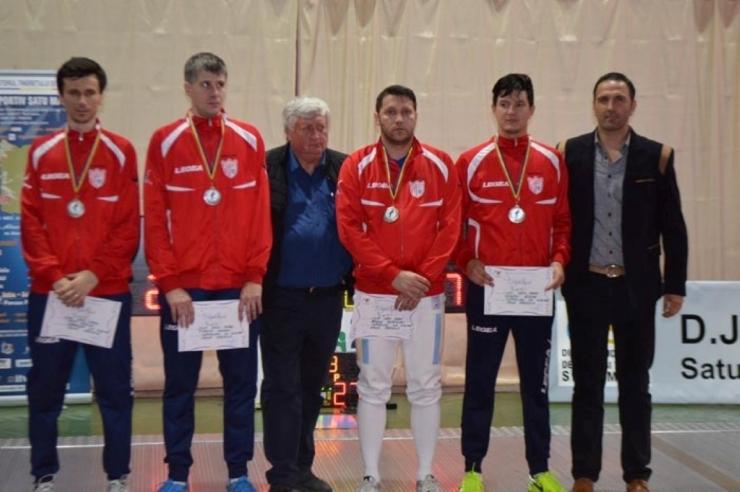 CSM Satu Mare a câștigat medaliile de argint în Superliga Națională de spadă seniori masculin