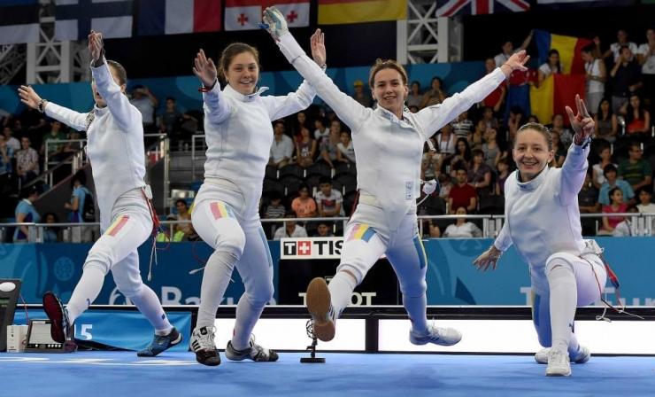 Baku 2015: Spadă: AUR pentru România în finala cu Estonia