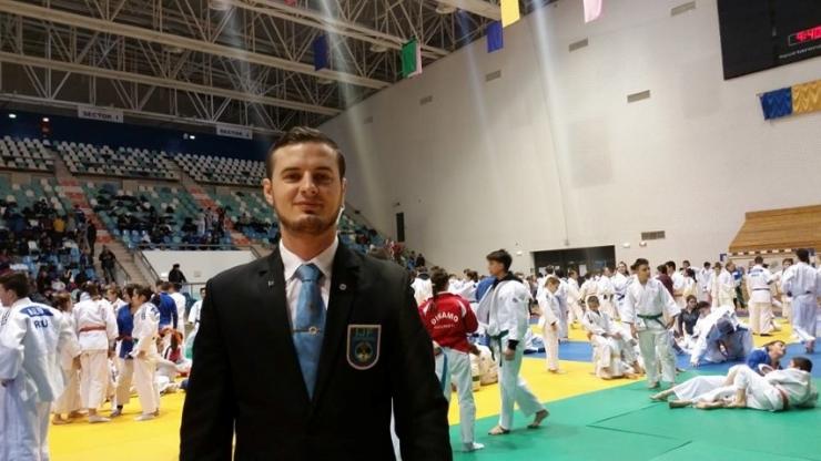 Vasile Fușle jr. arbitrează la Cupa Mondială de Judo de la Roma