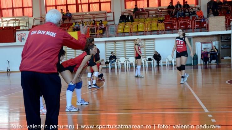 Volei | CSM Satu Mare va juca două meciuri amicale cu U Cluj Napoca
