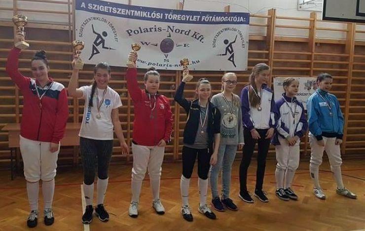 Floretă | Teodora Șofran (CS Satu Mare) a câștigat etapa din Circuitul European U14 de la Szigetszentmiklos