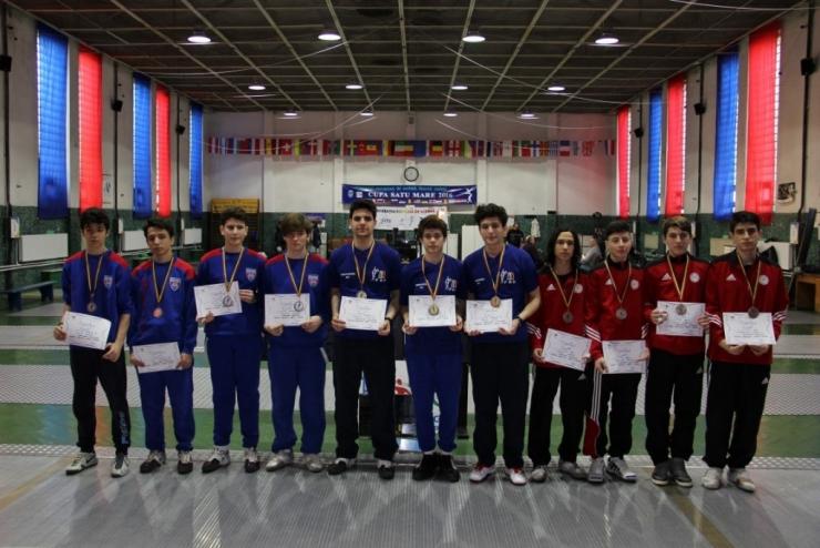 CN de floretă. Ziua 4. CSA Steaua 1 a câștigat medaliile de aur în proba masculină pe echipe