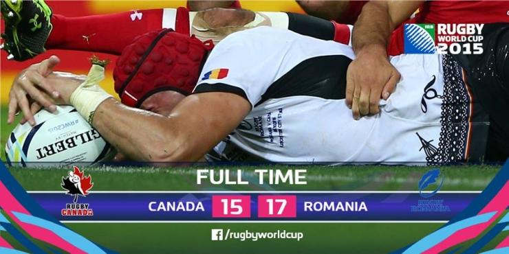 RWC 2015. România a învins Canada după cea mai mare revenire din toate timpurile
