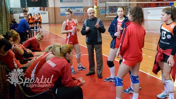 Volei | CSM Satu Mare a ratat calificarea în patrulaterul locurilor 1-4 din seria vestică a ligii secunde