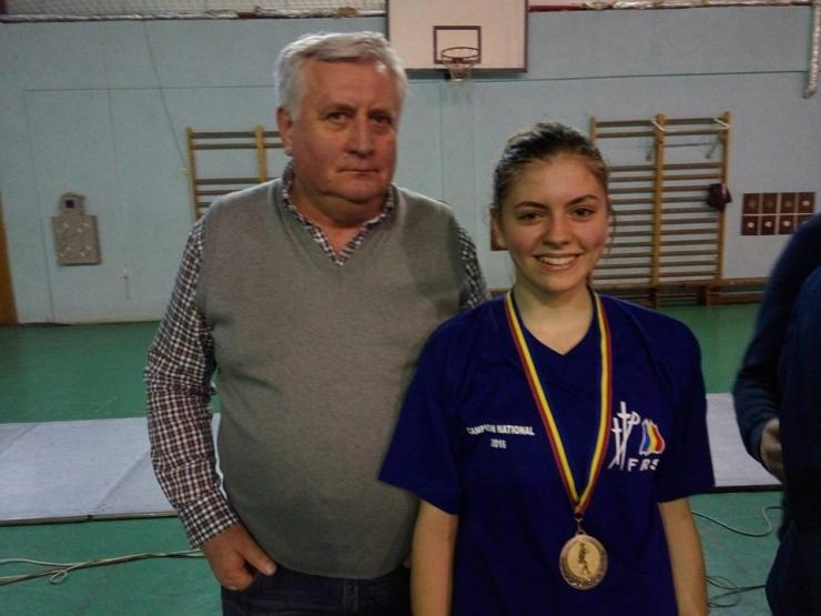 Teodora Coste de la CS Satu Mare, campioană națională la spadă