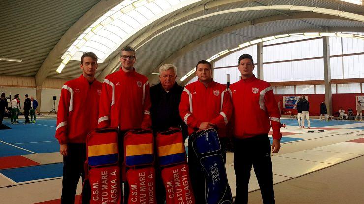 CSM Satu Mare, locul 10 la Cupa Europei la spadă masculin de la Heidenheim