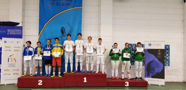 Floretă | Sportivii de la CS Satu Mare au câștigat Campionatul Național de Speranțe – echipe