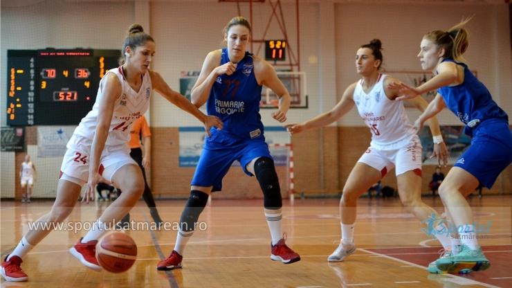 Baschet | CSM Satu Mare a câștigat și returul cu CSM Târgoviște și s-a calificat în Final 4-ul Cupei României