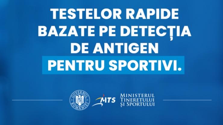 MTS | Testele rapide COVID-19 vor putea fi folosite de sportivi în competiţiile interne