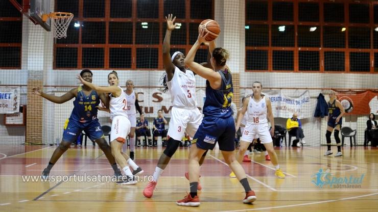 Baschet | CSM Satu Mare a bifat a treia victorie din acest sezon cu FCC ICIM Arad