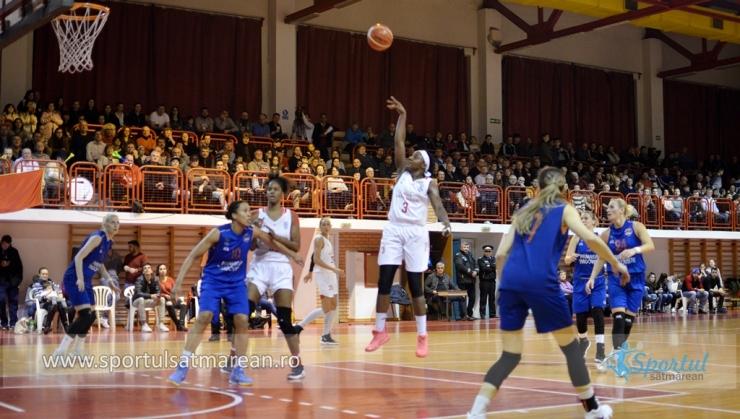 Baschet | Victorie consistentă pentru CSM Satu Mare cu CSM Târgoviște