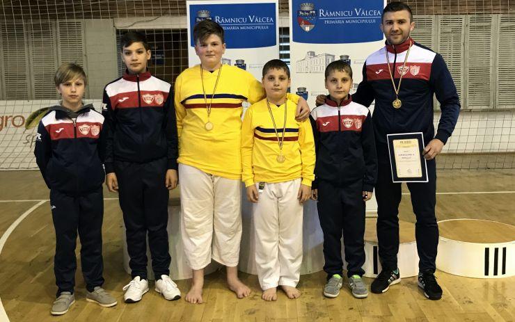 Judoka de la CSM-Fușle Satu Mare, campioni naționali la U14-echipe