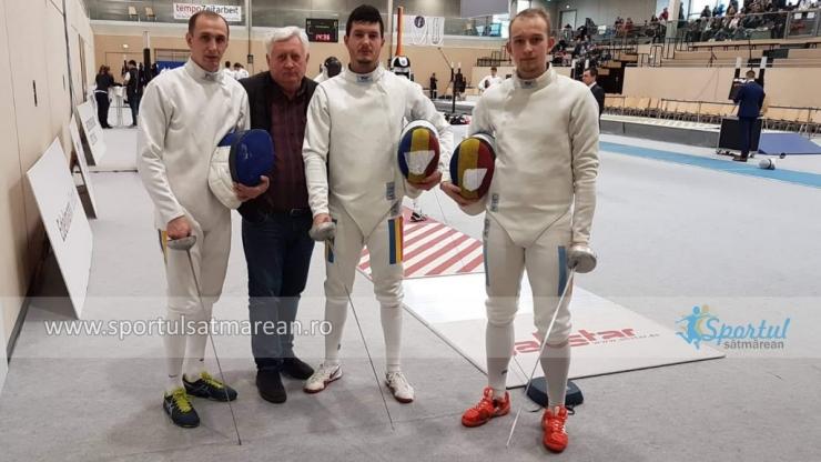 Spadă | Szilagyi, Szep și Herey, locul opt la Cupa Campionilor Europei