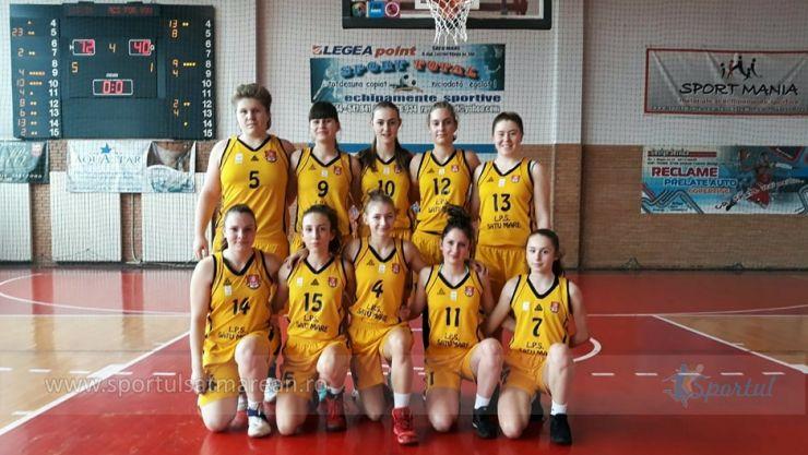 Baschet U16 | LPS CSS Satu Mare a câștigat primul meci din faza semifinală a Campionatului Național de Baschet feminin