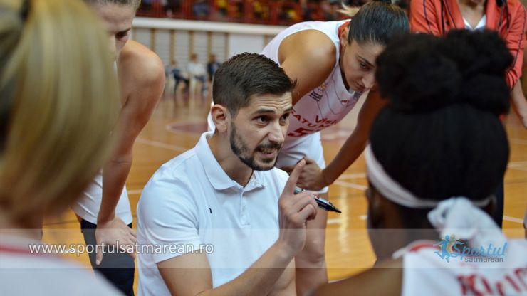 Baschet | Octavian Boian a debutat cu victorie în calitate de principal la CSM Satu Mare