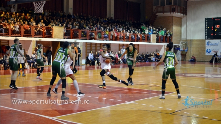 Baschet | CSM Satu Mare a învins Sepsi SIC Sf. Gheorghe la o diferență de 25 puncte