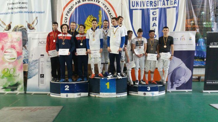 Spadă U23 | CS Satu Mare, locul 2 la Campionatul Național în proba masculină pe echipe