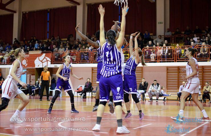 Baschet feminin | CSM Satu Mare, înfrângere categorică cu SCM Timișoara, în play-off