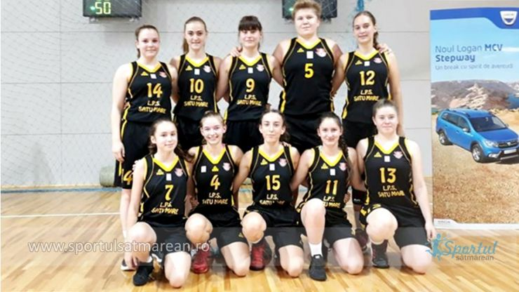 Baschet U16 | Fetele de la LPS CSS Satu Mare au început cu o victorie Turneul Final