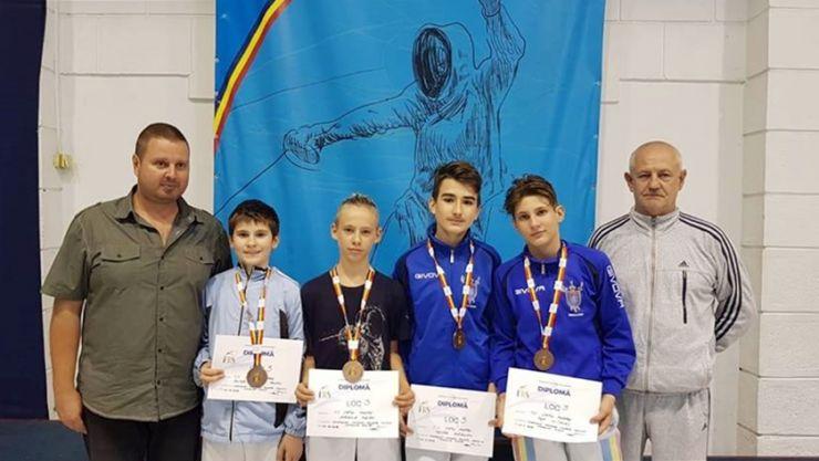 Juniori U15 | Sportivii de la CS Satu Mare au câștigat trei medalii la Campionatul Naţional de floretă