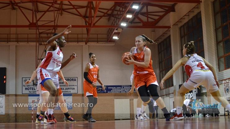 Baschet | CSM Satu Mare a învins Spirou Ladies Charleroi în Liga Europei Centrale