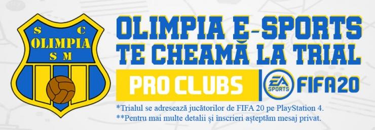 Olimpia MCMXXI Satu Mare trece pe terenul de fotbal virtual