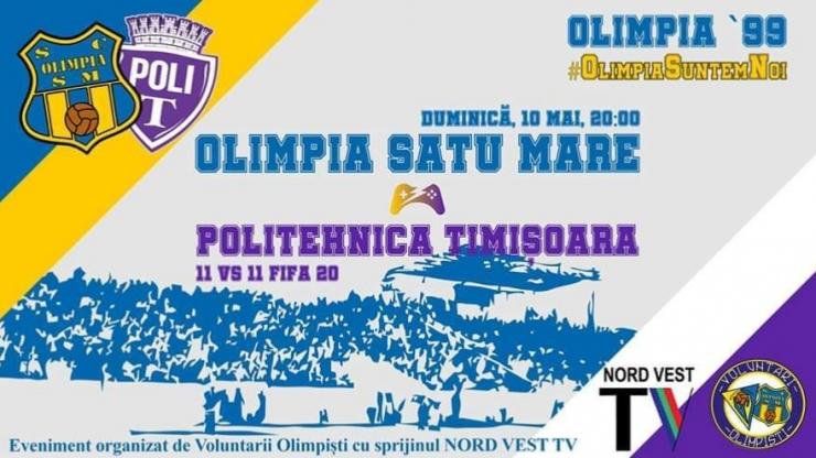 Olimpia sărbătorește 99 de ani de la înființare printr-un amical online cu Poli Timișoara