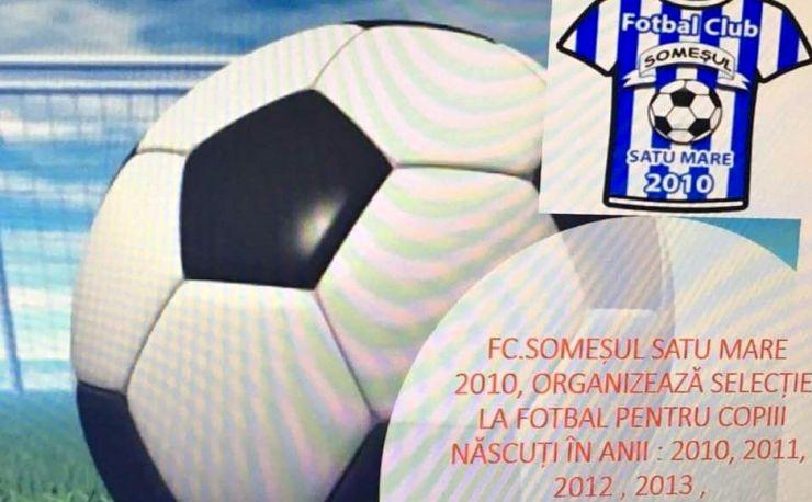 Fotbal juniori | Acțiune de selecție la FC Someșul Satu Mare