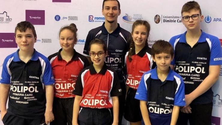 Tenis de masă | Juniorii sătmăreni au participat la Campionatul Național pe echipe