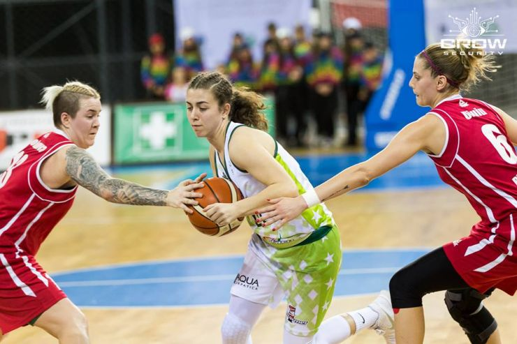 Baschet feminin | CSM Satu Mare, înfrângere categorică în primul meci al finalei