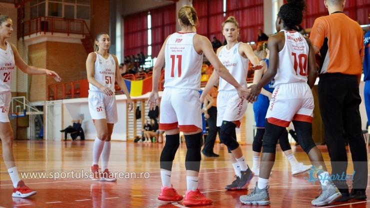 Baschet | CSM Satu Mare a bifat a opta victorie consecutivă în Liga Națională
