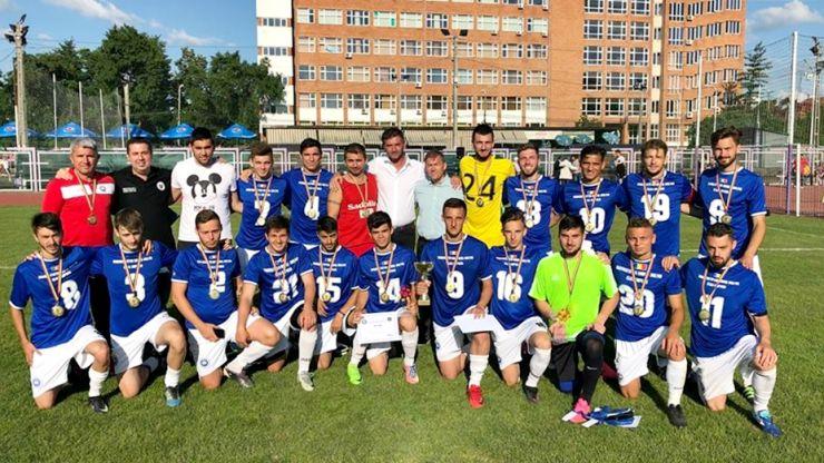Cu fotbaliști sătmăreni în echipă, Universitatea Babes-Bolyai a câştigat finala CN Universitar