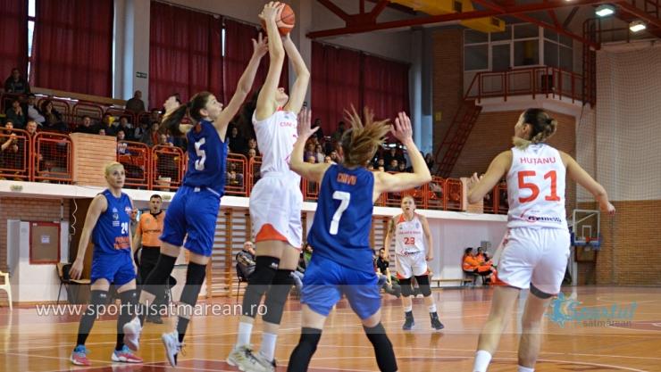 Baschet | CSM Satu Mare a câștigat la Târgoviște și s-a calificat în semifinalele LNBF