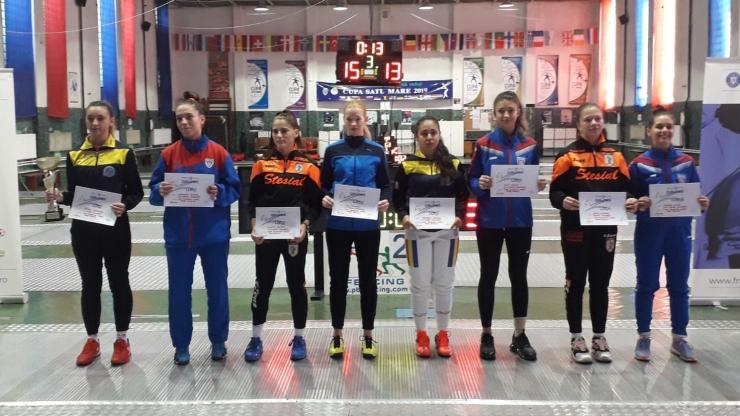 Spadă | Cupa României de la Satu Mare s-a încheiat cu întrecerile feminine