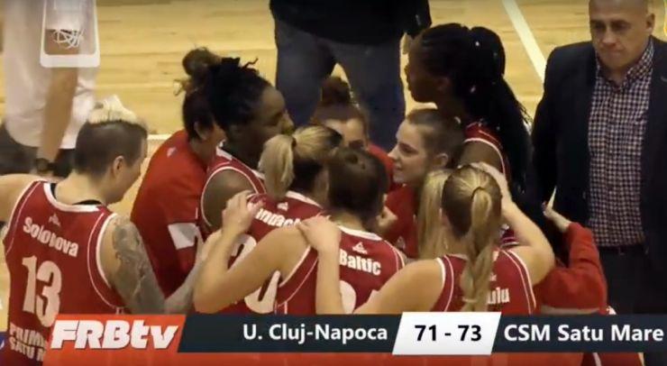 Baschet feminin | Victorie pentru CSM Satu Mare în primul meci al grupei valorice 1-5