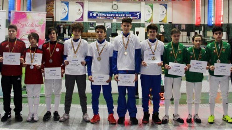 Ziua 2 | CSA Steaua a câștigat proba masculină pe echipe a Campionatului Național de floretă cadeți de la Satu Mare