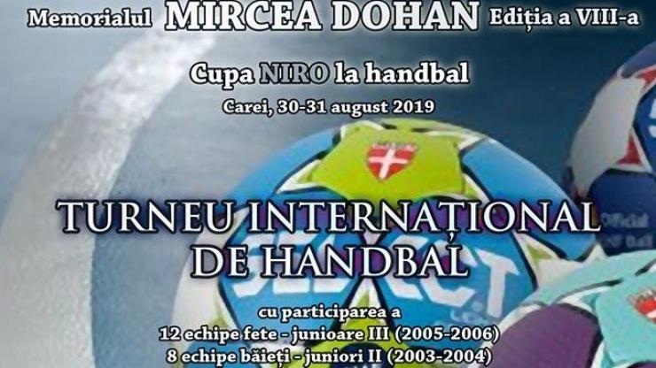 """Magicienii handbalului vor fi prezenți la Memorialul """"Mircea Dohan"""" - Cupa NIRO"""